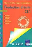 Production d'écrits. CE1