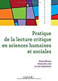 Pratique de la lecture critique en sciences humaines et sociales