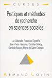Pratiques et méthodes de recherche en sciences sociales