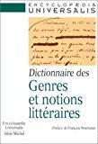 Dictionnaire des genres et des notions littéraires