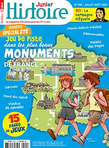 N°109 - juillet - août 2021 - Jeu du piste dans la plus beaux monuments de France (Bulletin de Histoire Junior, N°109 [01/07/2021])