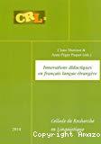 Innovations didactiques en français langue étrangère
