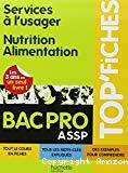 Services à l'usager. Nutrition Alimentation. BAC Pro ASSP