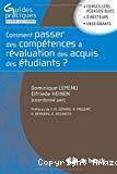 Comment passer des compétences à l'évaluation des acquis des étudiants ?
