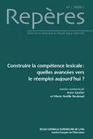 Construire la compétence lexicale