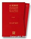 Dictionnaire historique de la langue française