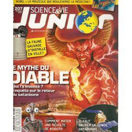 Science et Vie Junior, N°207 - décembre 2006 - Le mythe du diable : qui l'a inventé?, enquête sur le retour du satanisme