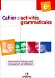 Cahiers d'activités grammaticales 6e