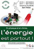 En physique comme en chimie, l'énergie est partout!