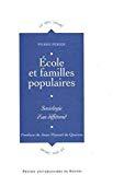 Ecole et familles populaires