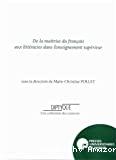 De maîtrise du français aux littéracies dans l'enseignement supérieur