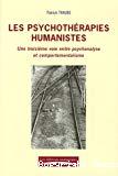 Les psychothérapies humanistes