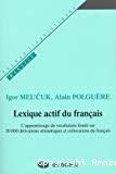 Lexique actif du français
