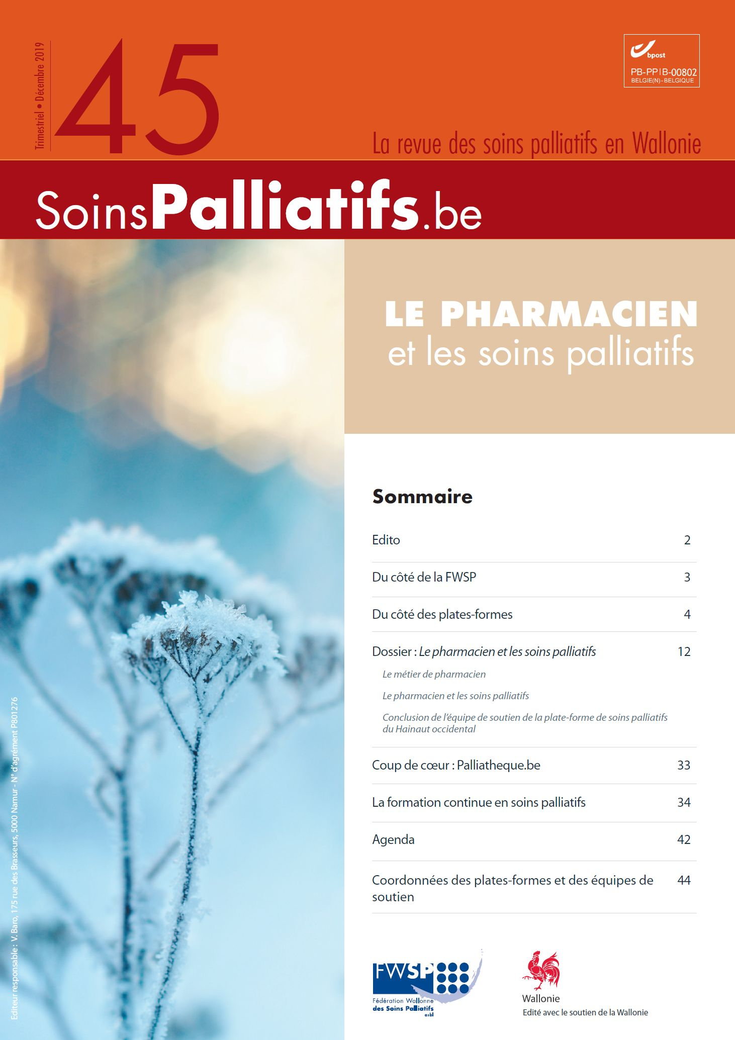 Le pharmacien et les soins palliatifs