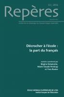 Décrocher à l'école : la part du français