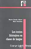 Les textes littéraires en classe de langue