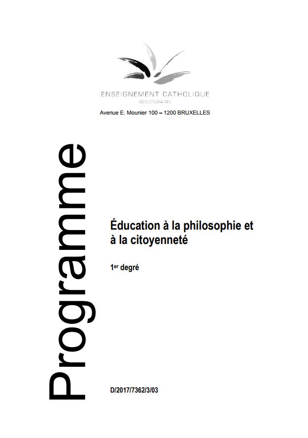 Éducation à la philosophie et à la citoyenneté. 1er degré