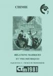 Relations massiques et volumétriques. Fascicule II