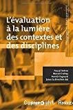 L'évaluation à la lumière des contextes et des disciplines