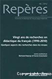 Repères - Institut national de recherche pédagogique, 46. Vingt ans de recherches en didactique du français (1990-2010)