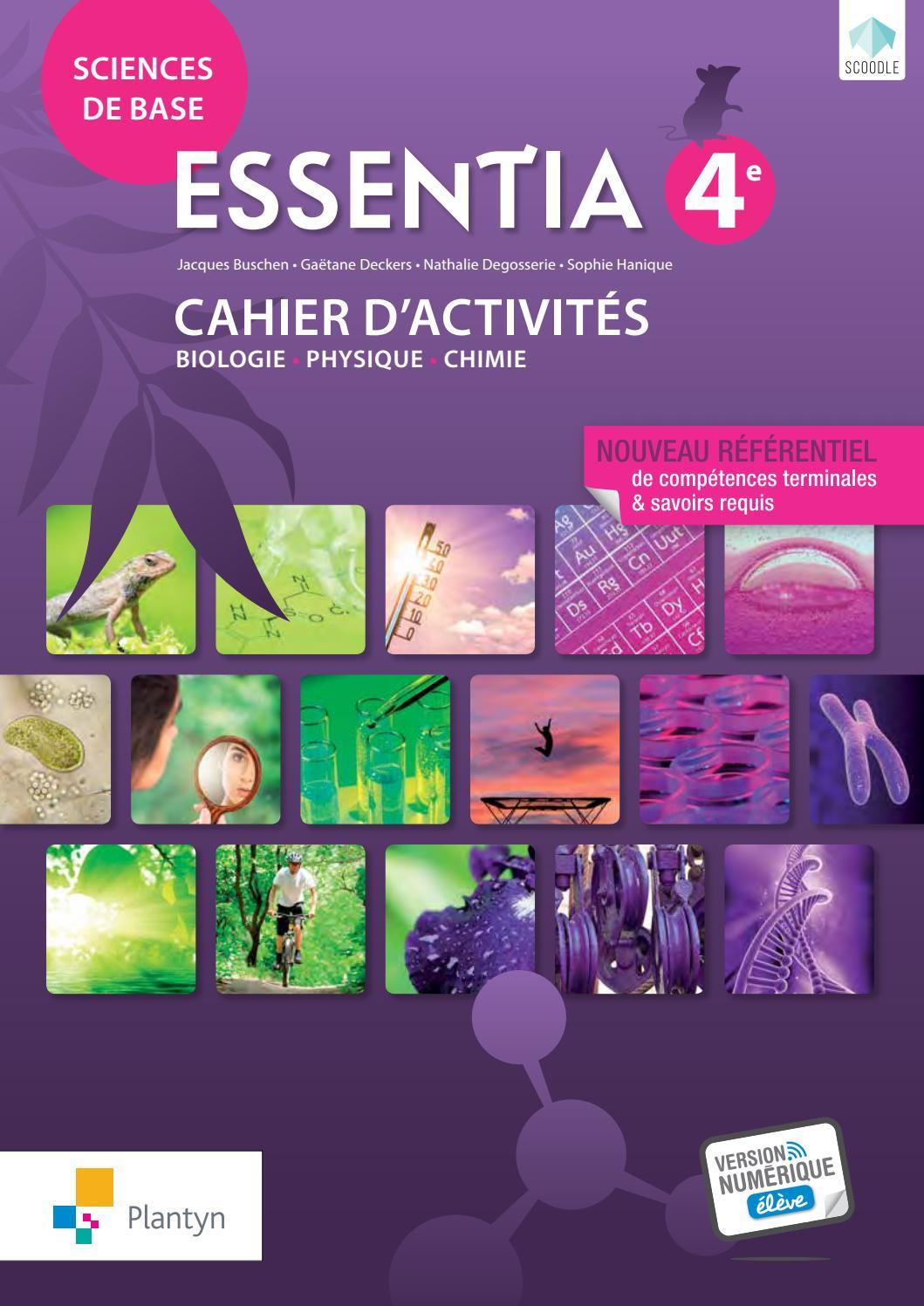 Essentia 4e : cahiers d'activités