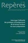 Repères : recherches en didactique du français langue maternelle, N° 55 - 2017 - Interroger l'efficacité des pratiques d'enseignement de la lecture-écriture au cours préparatoire