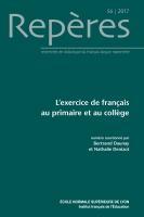 L'exercice de français au primaire et au collège