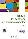 Manuel de recherche en sciences sociales