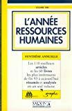 L'année ressources humaines : synthèse annuelle