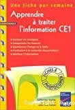 Apprendre à traiter l'information CE1