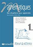 Mathématiques 1 : des situations pour apprendre : manuel de référence