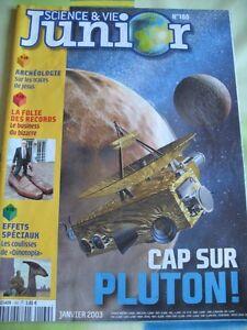 Science et Vie Junior, N° 160 - Janvier 2003 - Cap sur Pluton !