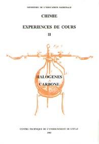 Expériences de cours II : halogènes, carbone