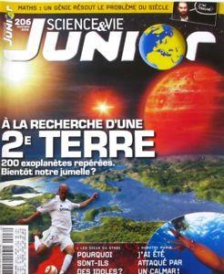 Science et Vie Junior, N°206 - novembre 2006 - A la recherche d'une 2e Terre
