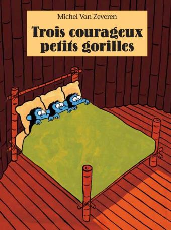 Troix courageux petits gorilles
