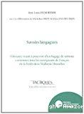 Savoirs langagiers : Glossaire visant à pourvoir d'un bagage de notions communes tous les enseignants de français de la Fédération Wallonie-Bruxelles