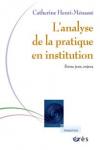 Analyse de la pratique en institution