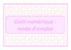 Mode d'emploi de l'outil - application/pdf